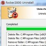 foobar2000のアンインストール手順
